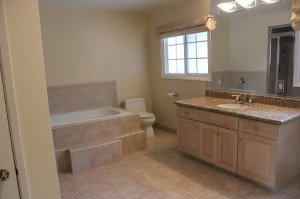 Bathroom Remodeling Sandstone and Taupe